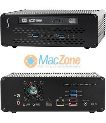 SONNET Echo 15+ Thunderbolt 2 Dock - dokovací stanice 16portů + DVD + slot na HDD/SSD