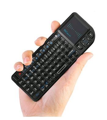 Rii mini X1 bezdrátová klávesnice Qwerty s Touchpadem černá pro PC/Notebook/Raspberry