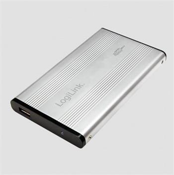 """LogiLink externí box pro 2,5"""" IDE HDD USB 2.0 stříbrný"""