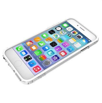 Devia Classic ochranný rámeček - bumper pro Apple iPhone 6S / 6, bílý - transparentní