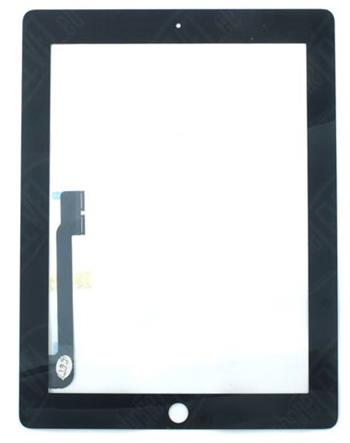 Apple iPad 4 ( retina , lightning) OEM touchscreen digitizer - dotykový panel pro iPad 4 černý