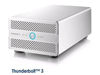 "Akitio Thunder3 Duo Pro externí RAID box na 2 x 2,5""/ 3,5"" SATA-III disky 2x Thunderbolt 3 USB 3.1 DP výstup"