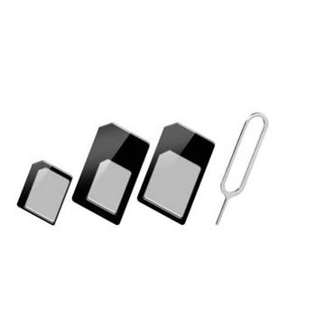 MacPower set 3 redukcí na SIM karty vč. jehly na vysunutí SIM karty ( SIM, Nano SIM, Micro SIM)