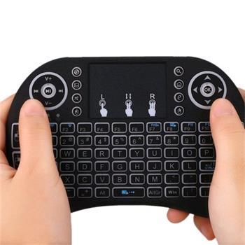 Vontar i8+ RF bezdrátová klávesnice Qwerty s Touchpadem a podsvícením pro Raspberry Pi / Smartphony / XBOX / Playstation