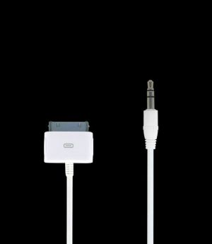 iPower audio kabel pro iPod / iPhone v2 Dock AUX / Line Out bílý - TC-IPAC-WHT