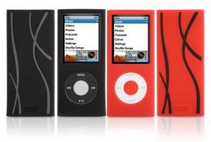 Griffin Flex Grip silikonové pouzdro pro iPod Nano 4 generace 2-pack černé a červené - GT-6289-NFGBR