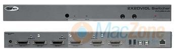 Gefen 2x2 DVI DL Switcher - přepínač KVM 2x2 DVI dual link DVI EXT-DVI-422DL