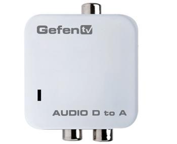 Gefen GefenTV Digital Audio to Analog Adapter - GFN-GTV-DIGAUD-2-AAUD