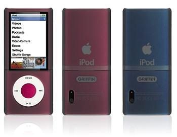 Griffin OUTFIT pro Apple iPod Nano 5 generace průhledné pouzdro černé