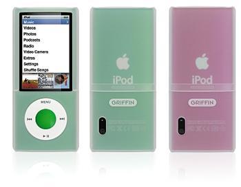 Griffin OUTFIT pro Apple iPod Nano 5 generace průhledné pouzdro bílé