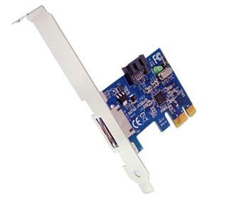 Generic PCIe SATA řadič 1x eSATA ext / 1 x SATA internal Jmicron chipset