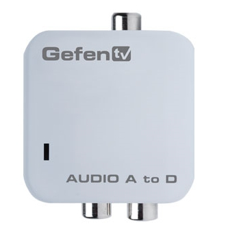 Gefen GefenTV Analog Audio to Digital Adapter GTV-AAUD-2-DIGAUD