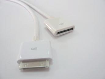 iPower USB DOCK EXTENSION kabel - prodlužovací kabel DOCK M/F 1M pro iPod a iPhone bílý