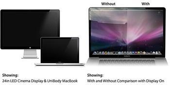 "RadTech ClearCal antireflexní matná fólie pro Apple iMac 24"" a 24"" Apple LED Cinema display"