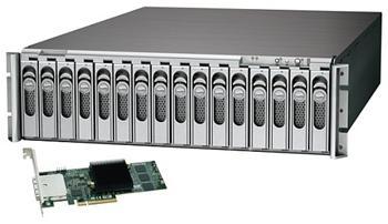 Sonnet Technology Fusion RX1600 RAID , RACKMOUNT , 16x SATA hot-swap case , 2x mini-SAS + RAID karta