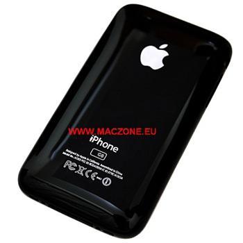 Apple iPhone 3GS Rear Cover and chrome bezel - zadní plastový kryt černý s chromovým rámem