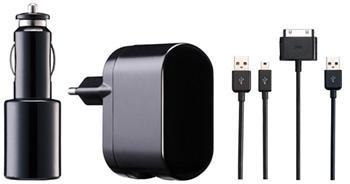 iPower DUAL Charging Kit 2.1A nabíječka a autonabíječka pro Pod/iPhone/iPad včetně USB 30pin kabelů černá