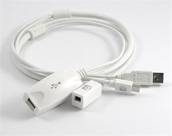 Dr. Bott Mini Display Port PRO MDP a USB aktivní prodlužovací kabel 4.5M M/F
