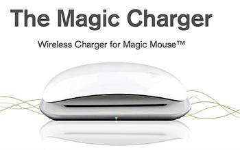 Mobee Magic Wireless Charger for Magic Mouse - bezdrátová indukční nabíječka a set akumulátorů pro MagicMouse