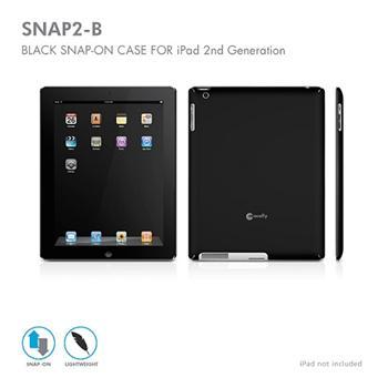 Macally SNAP pevný obal na iPad 2, černý