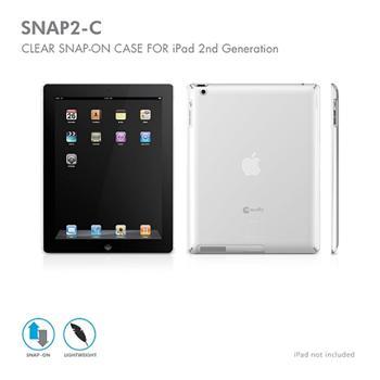 Macally SNAP pevný obal na iPad 2, transparentní