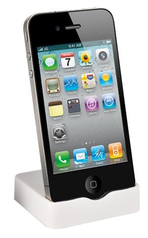 Muvit Slim Dock - dokovací stojánek pro Apple iPhone 4 /4S bílý