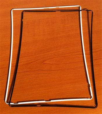 Apple iPad 2 Middle Frame White - středový rámeček pro Apple iPad 2 bílý