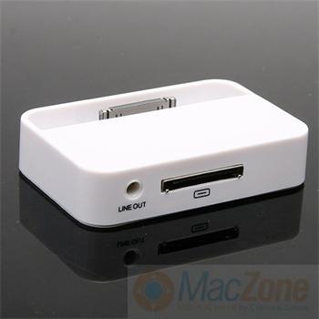 iPower universal dock stojánek pro Apple iPhone 3G, 3GS, 4G, 4S , iPod s audio výstupem bílý