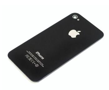 Apple iPhone 4S Glass Back Cover black - kompletní zadní díl iPhone 4S černý