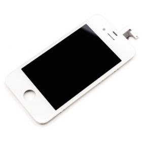 Apple iPhone 4 S Touch digitizer LCD screen retina kompletní přední díl iPhone 4S - OEM bílý