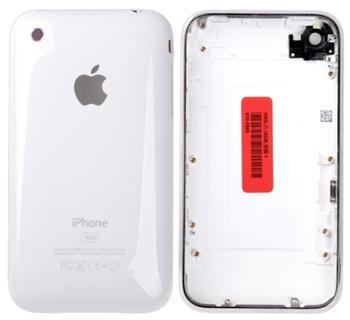Apple iPhone 3GS Rear Cover and chrome bezel - zadní plastový kryt bílý s chromovým rámem