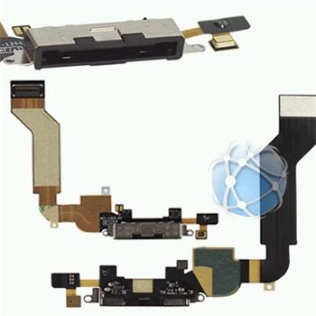 Apple iPhone 4G S Dock connector flex cable - dockový obvod bílý 821-1301-A