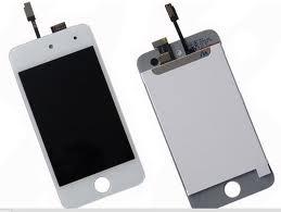 Apple iPod Touch 4.gen touch digitizer w/LCD - BÍLÝ / dotykový panel a LCD kompozitní servisní díl