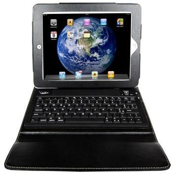 VaVeliero PadKey2 -kožený obal pro iPad 2/3 s integrovanou bluetooth klávesnicí ( otevřeno, sleva)