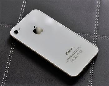 Apple iPhone 4S Glass Back Cover OEM neoriginál white - kompletní zadní díl iPhone 4S bílý