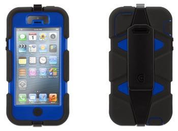 Griffin Technology Survivor iPhone 5 /5 S - extrémně odolný obal pro iPhone 5 černo/modrý