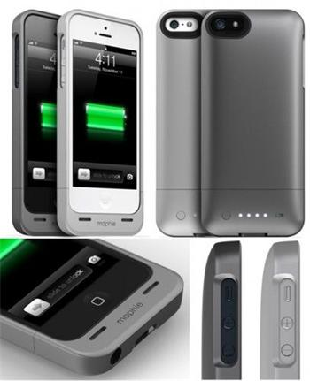 Mophie Juice Pack Helium přídavná baterie pro iPhone 5 / 5S / SE tmavá metalická 1500mAh