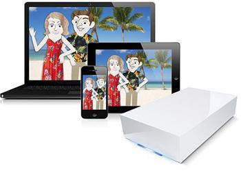 2TB Lacie CloudBox v2 Gigabit Ethernet externí síťový disk s cloud funkcemi 9000343EK