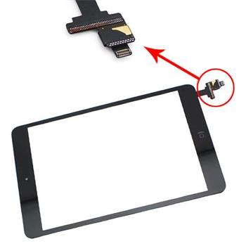 Apple iPad Mini Touchscreen black dotyková vrstva a krycí sklo , s controler boardem osazený