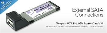 Sonnet Tempo SATA PRO 6gbit Express card řadič pro Mac OSX ( 2x external eSATA 3)