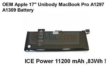 "ICE Power baterie pro Apple MacBook Pro 17"" Unibody 2009-2011 náhrada A1309"