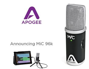 Apogee MIC 96K studiový mikrofon pro iPad, iPhone, iPod Touch a Mac