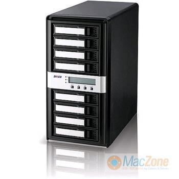 Areca 8050T2 Thunderbolt 2 RAID box na 8 disků SATA/SAS, HW RAID (0,1,10,5,6 ) , 1GB cache , pro 4K video