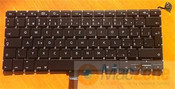 "Klávesnice pro Apple MacBook Pro 13"" unibody A1278 , CZ rozložení kláves , zahnutý enter"