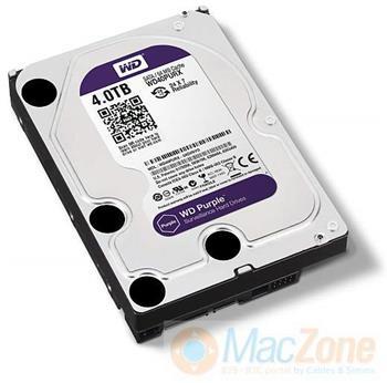 """4TB Western Digital Purple SATA 6 3,5"""" HDD 64MB interní disk pro AV recording"""