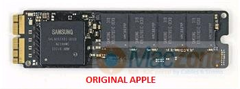 256GB Apple PCIe NVMe original SSD disk pro MacBook Pro Retina a Air 2013/2014/2015 až 1400MB/s