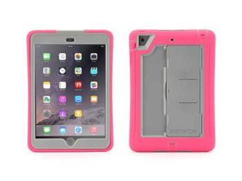 Griffin Technology Survivor Slim iPad Mini 1, 2, 3 pevný odolný obal šedivo růžový