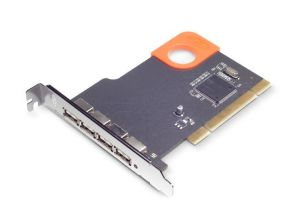 LaCie USB 2.0 card PCI, 4 port, USB 2.0 Mac design SISMO